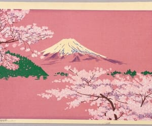 art, pink, and japan image