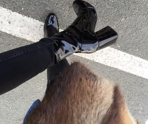black, boot, and fashion image