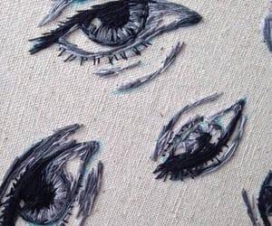 eyes, blue, and aesthetic image