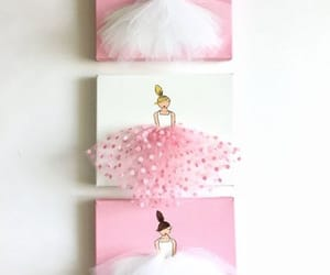 ballerina, girly, and wall decoration image