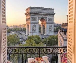 city, paris, and breakfast image