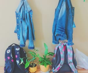 backpack, flowers, and pretty image
