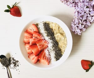 breakfast, chia seeds, and goals image
