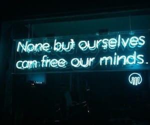 neon, quotes, and blue image