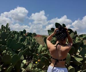 back, bikini, and sky image