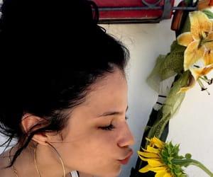 bun, girl, and flower image