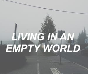 living, text, and empty image