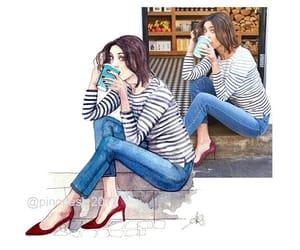 etsy, fashion, and fashion illustration image