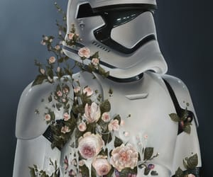star wars, flowers, and stormtrooper image