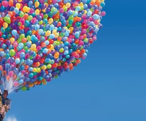 balloons, disney, and fly image