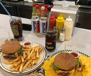 burgers, coke, and delicious image