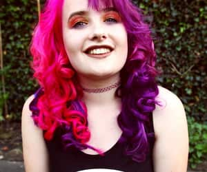 colored hair, ellie, and curly hair image