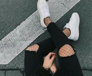 black clothes and shoes image