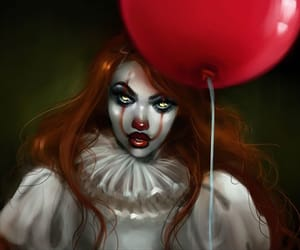 art, balloon, and clown image