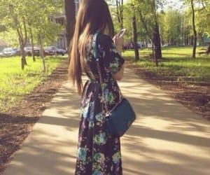 flower dress, spring, and girl image
