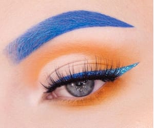 blue, eyelashes, and eyeliner image