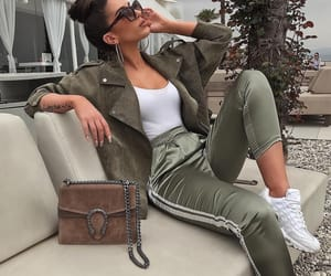 angle, fashion, and olive green image