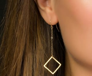 accessories, earring, and plain image