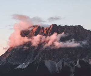 mountains, clouds, and pink image