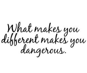 quotes, dangerous, and different image