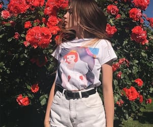 beauty, disney, and flowers image