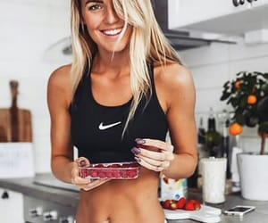 blond, body, and food image