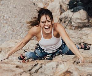 climbing, girl, and life image