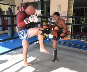 boot camp, fighter, and mma image