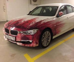 blood, bmw, and car image