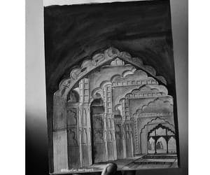 mughal, sketching, and architecture image
