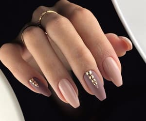 nails, Nude, and beauty image