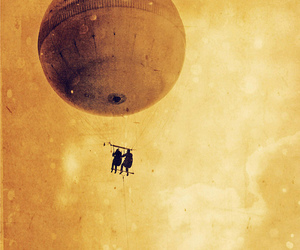 baloon and old image