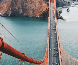 travel, san francisco, and bridge image