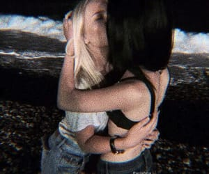 lesbian, love, and kiss image