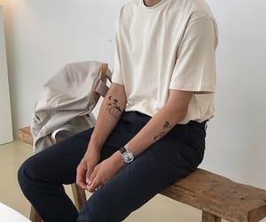boy, fashion, and tattoo image