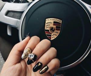 nails, car, and gold image