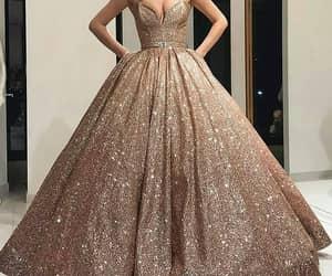 dress, fashion, and Prom image