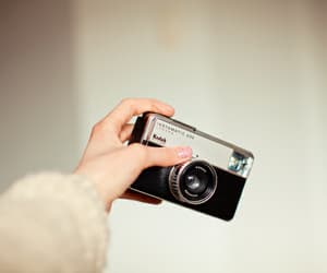 camera, kodak, and hand image