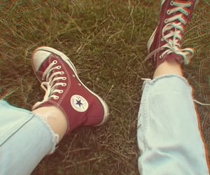 converse, green, and grunge image