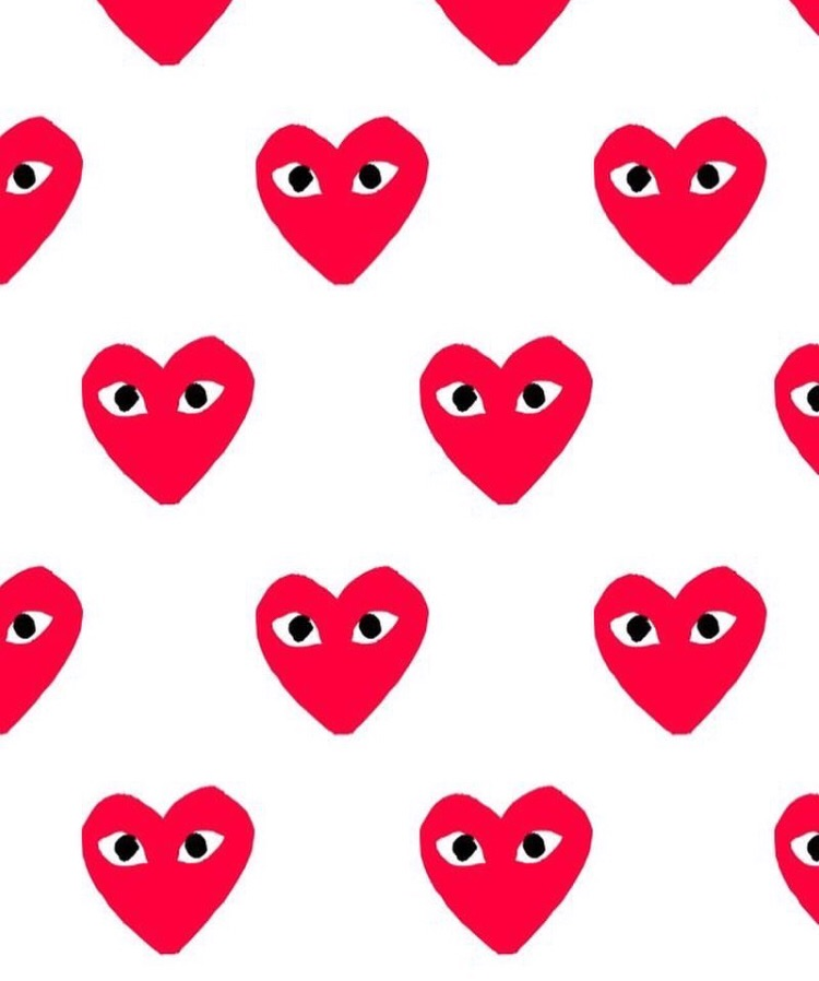 Comme Des Garcons Heart Print On We Heart It