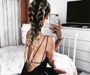 beauty, style, and braid image