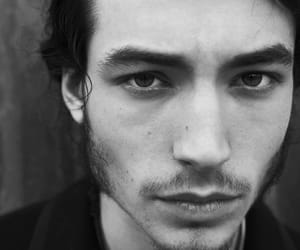 ezra miller, black and white, and actor image