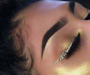 makeup, glitter, and eyeliner image