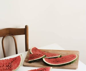 chair, table, and watermelon image