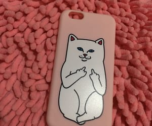aesthetics, pink, and cute cat image