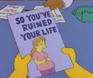 the simpsons, life, and simpsons image