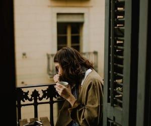 coffee, girl, and vintage image