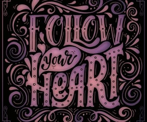 art, follow your heart, and quote image