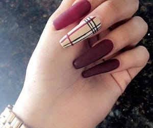 Burberry, burgundy, and luxurious image
