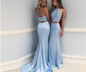 blue, girls, and moda image